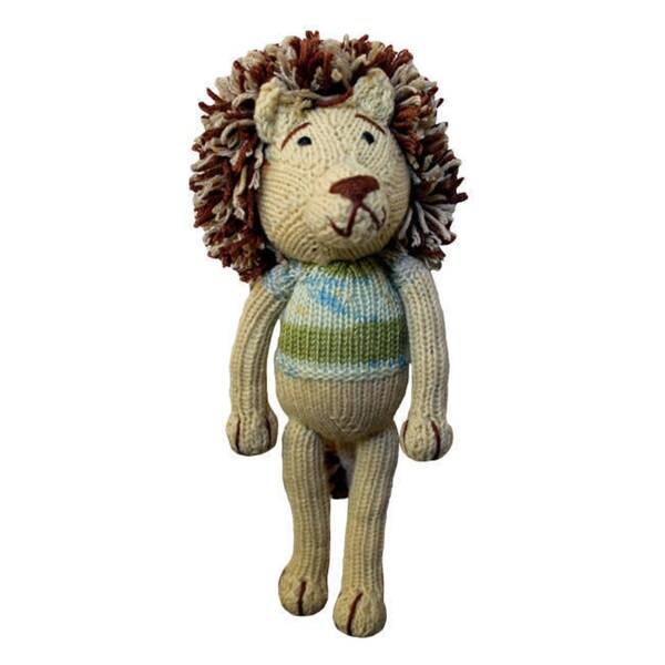 Handmade Hand-knitted 10-inch Lion Toy (Zimbabwe)