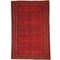 Handmade Herat Oriental Afghan Tribal Balouchi Wool Rug  - 6'2 x 9'5 (Afghanistan)