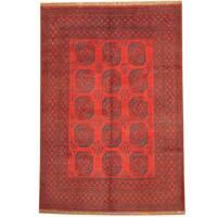 Herat Oriental Afghan Hand-knotted Tribal Turkoman Wool Rug (6'8 x 9'5) - 6'8 x 9'5