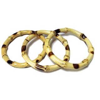 Handmade Bamboo Spotted Bracelet (Vietnam)