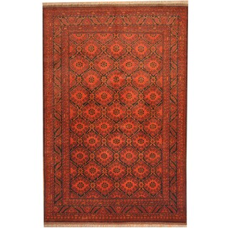 Herat Oriental Afghan Hand-knotted Tribal Khal Mohammadi Wool Rug (6'5 x 9'9)