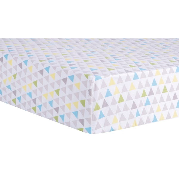 Shop Trend Lab Triangles Multicolored Fitted Crib Sheet