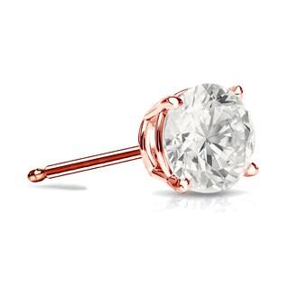Auriya 14k Gold 3/4ct TDW Round SINGLE STUD (1) Diamond Earring