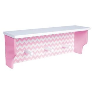 Trend Lab Pink Chevron Shelf