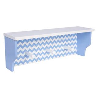 Trend Lab Blue Chevron Shelf