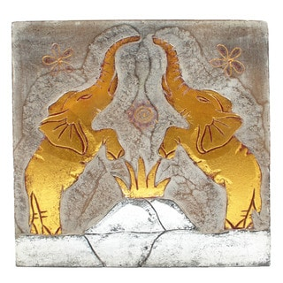 Elephant Couple Wall Panel (Indonesia)