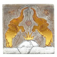 Handmade Elephant Couple Wall Panel (Indonesia)