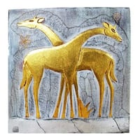 Handmade Giraffe Couple Wall Panel (Indonesia)