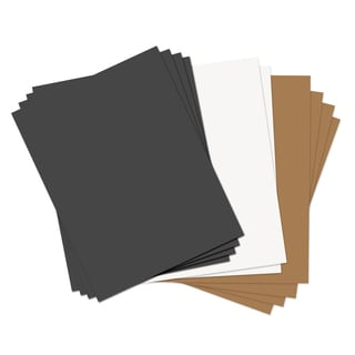 Sizzix Assorted Basics 8.5 x 11 Paper Leather Sheets (10 Pack)