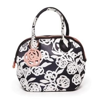 BUILT Downtown Lunch Tote Garden Rose Black And White