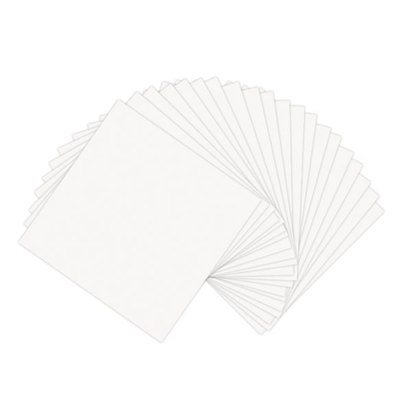 Sizzix White 6 x 6 Paper Leather Sheets (20 Pack)