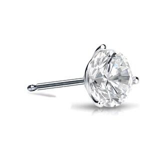 Auriya 14k Gold 1/3ct TDW Round SINGLE STUD (1) Diamond Earring