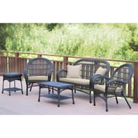 Santa Maria 5-piece Espresso Wicker Conversation Set with Cushions