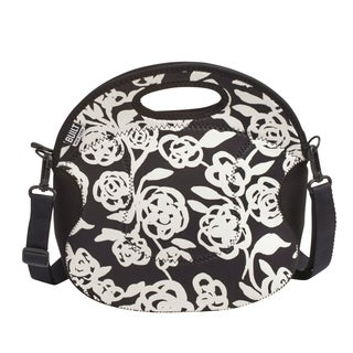 BUILT Spicy Relish Garden Rose Black And White Lunch Tote