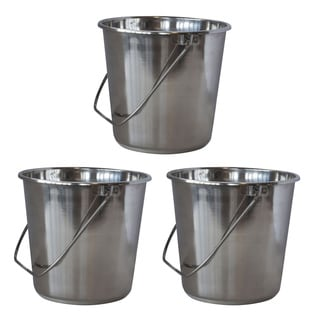 AmeriHome XLarge Stainless Steel Bucket Set  3 Piece