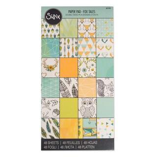Sizzix Paper Fox Tales 6 x 12 Cardstock Pad (48 Sheets)