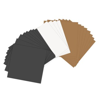 Sizzix Assorted Basics 6 x 6 Paper Leather Sheets (20 Pack)