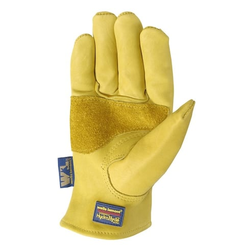 Wells Lamont Gold Men's Large Cowhide Leather Heavy Duty Work Gloves