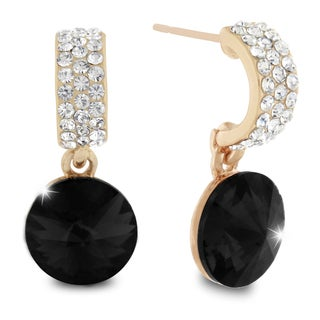 Black Onyx Dangle Earrings, Pushbacks