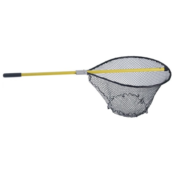 Loki Net Tangle-Less Flat Net 20-inchx24-inch Hoop 4' Yellow Handle