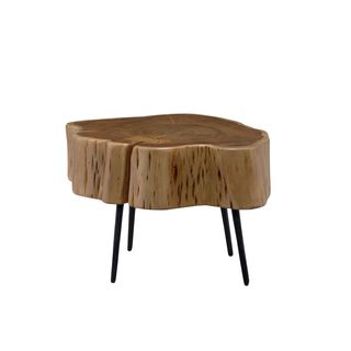 Aurelle Home Rustic Solid Acacia Coffee Table