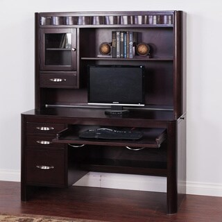 Sunny Designs Monterey Merlot Finished Desk and Hutch