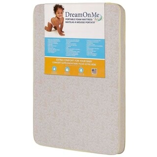 Dream On Me 3-inch Square Corner Playard Mattress - White