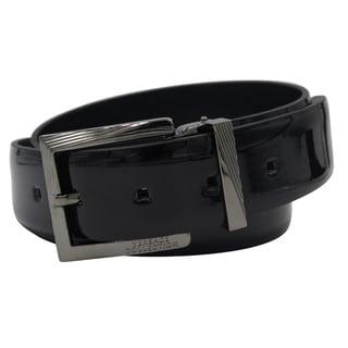 Versace Collection Black Patent Leather Adjustable Belt