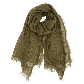 LA77 Long Solid Woven Wrap