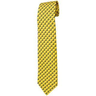 Davidoff 100-percent Twill Silk Yellow Neck Tie