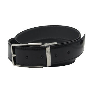 Versace Collection Black/ Grey Leather Reversible Adjustable Belt (3 options available)