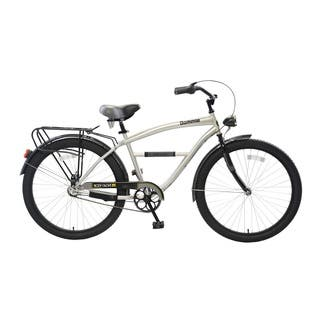 Body Glove Bommie Cruiser Bike, 26 inch wheels, oversized frame, Men's Bike, Silver|https://ak1.ostkcdn.com/images/products/11404610/P18369948.jpg?impolicy=medium