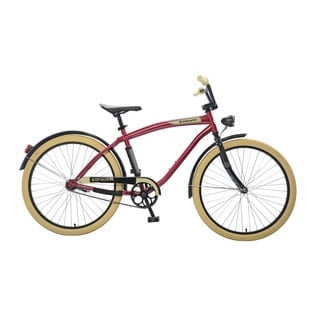 Body Glove Breakwater Cruiser Bike, 26 inch wheels, oversized frame, Men's Bike, Maroon