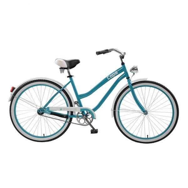 Body Glove Copa Cruiser Bike, 26 inch wheels, oversized frame, Women's Bike, Blue