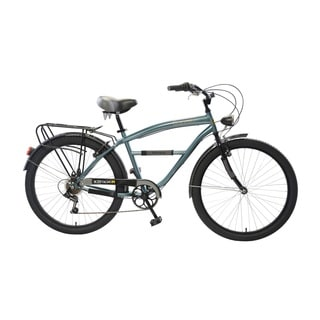 Body Glove Gunner Cruiser Bike, 26 inch wheels, oversized frame, Men's Bike, Steel Blue