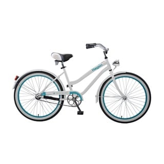 Body Glove Hayden Cruiser Bike, 24 inch wheels, oversized frame, Girl's Bike, White/Teal