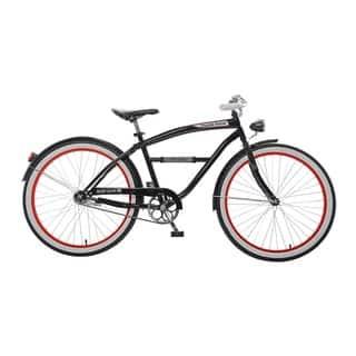 Body Glove Knuckle Duster Cruiser Bike, 26 inch wheels, oversized frame, Men's Bike, Black|https://ak1.ostkcdn.com/images/products/11404616/P18369954.jpg?impolicy=medium