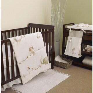Natures Purest Sleepy Safari 4-piece Crib Bedding Set