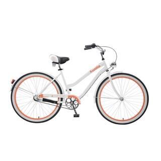 Body Glove Kwolla Cruiser Bike, 26 inch wheels, oversized frame, Women's Bike, White|https://ak1.ostkcdn.com/images/products/11404649/P18369955.jpg?impolicy=medium