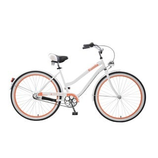 Body Glove Kwolla Cruiser Bike, 26 inch wheels, oversized frame, Women's Bike, White
