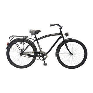 Body Glove Oceanside Cruiser Bike, 26 inch wheels, oversized frame, Men's Bike, Black