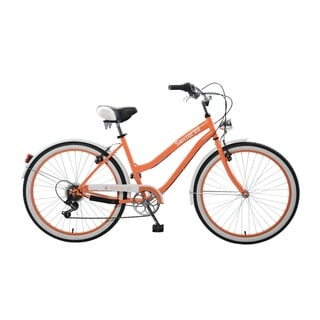 Body Glove Santorini Cruiser Bike, 26 inch wheels, oversized frame, Women's Bike, Orange