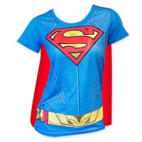 Superman Women's Sublimated Cape Costume T-Shirt