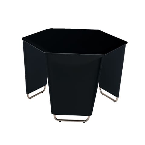Movado Black Metal End Table