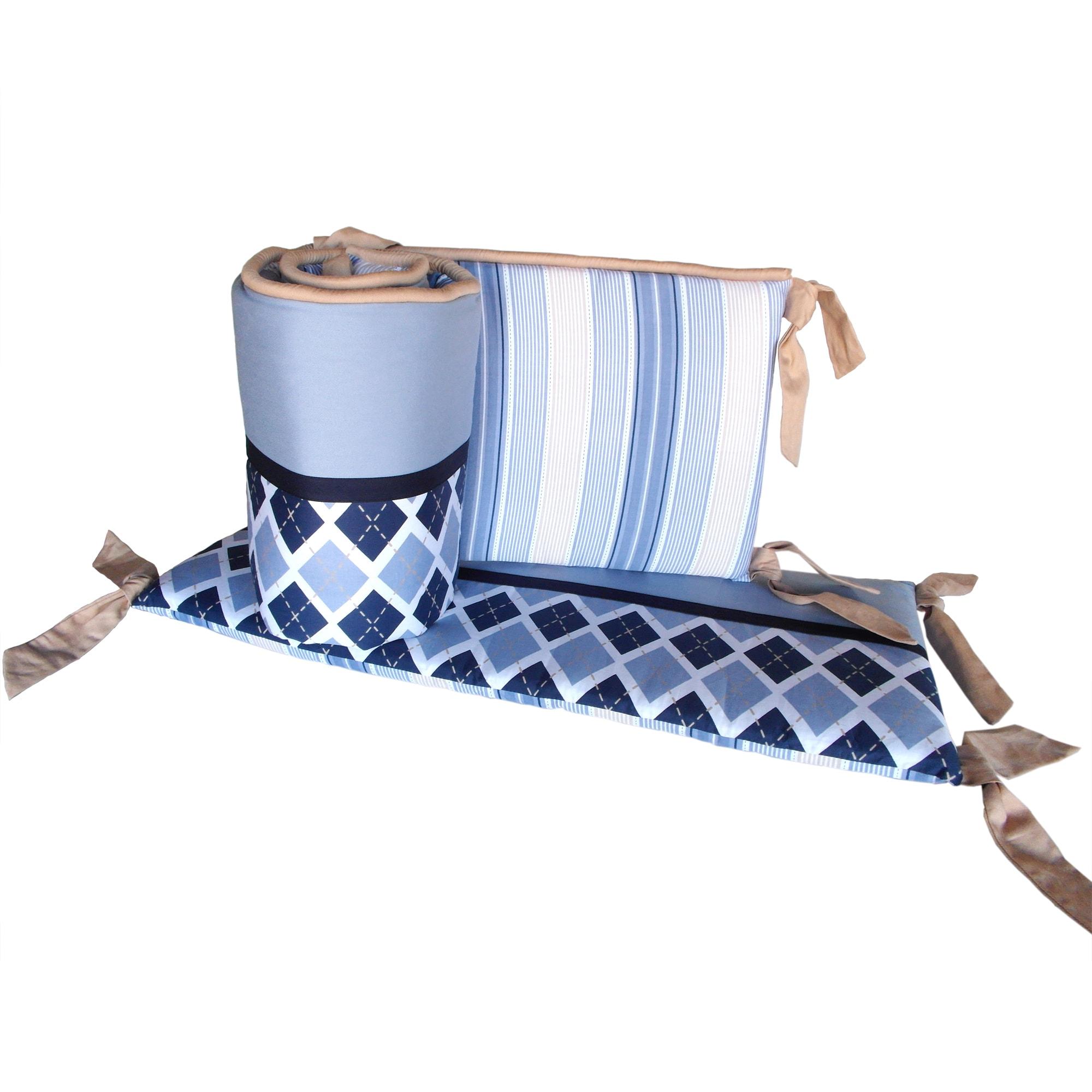 Petit Tresor Luca Crib Bumper (Luca), Blue