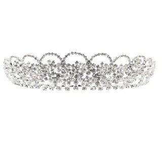 Kate Marie CWN-C4677MCRYSTAL Silver Tiara Headband