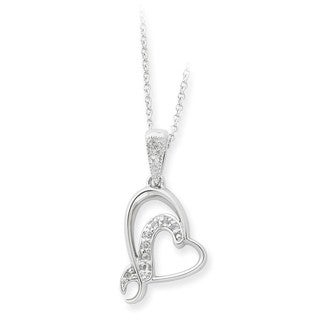 Versil Sterling Silver Cubic Zirconia Sister or Bridesmaid Necklace