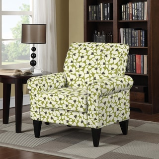 Handy Living Dana Green Modern Floral Arm Chair