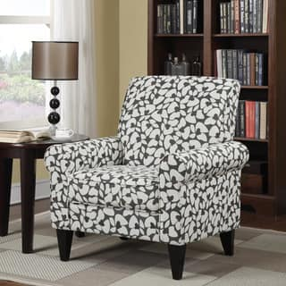 floral living room chairs. Handy Living Dana Charcoal Modern Floral Arm Chair Accent Chairs  Room For Less Overstock com