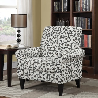 Shop Levon Charcoal Floral Print Accent Chair Overstock